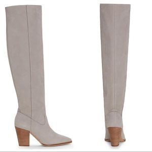 Lucky Brand Azoola Heeled Over knee boots leather